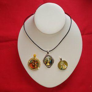 3 Religious Necklaces St Joseph Virgin Mary